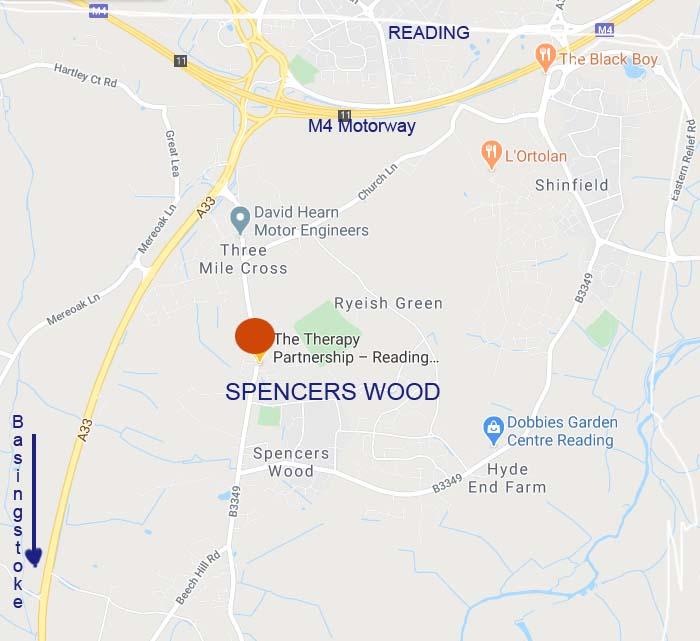Spencers Wood map